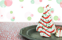 Christmas Tree Cake Royalty Free Stock Photos