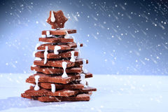 Christmas tree cake Stock Photos