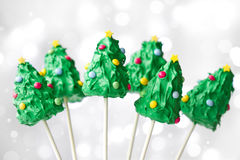 Christmas tree cake pops Stock Photo