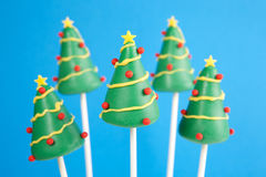Christmas tree cake pops Royalty Free Stock Images