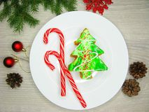 Christmas tree cake sweet festive dessert food Royalty Free Stock Photography