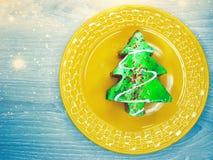 Christmas tree cake sweet festive dessert food Stock Photos