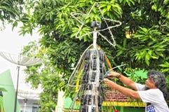 CHRISTMAS TREE from CAMERA Royalty Free Stock Image