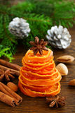 Christmas tree of candied orange. Royalty Free Stock Images