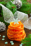 Christmas tree of candied orange. Royalty Free Stock Photos