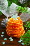 Christmas tree of candied orange. Royalty Free Stock Photography