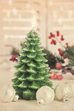 Christmas tree candle Stock Images