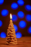 Christmas tree  candle with blur background Stock Images