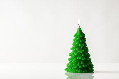 Christmas tree candle Royalty Free Stock Photos