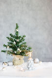 Christmas tree with candle Royalty Free Stock Photography