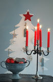 Christmas Tree and Candle Holder Stock Photography
