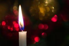 Christmas tree candle Stock Photos