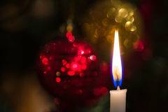 Christmas tree candle Stock Photo