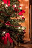 A christmas tree with candles. royalty free stock images