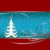 Christmas tree card Stock Photography