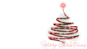 Christmas tree card. White christmas background for your greeting Royalty Free Stock Image