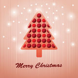 Christmas tree card. Christmas Card with fir and stars Stock Image