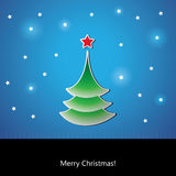Christmas tree card Stock Photo