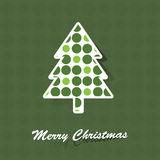 Christmas tree card. Christmas Card with fir and dots Royalty Free Stock Photography