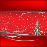 Christmas tree card 2 Royalty Free Stock Photos