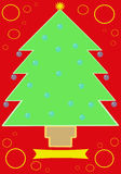 Christmas Tree Card_2 Stock Photography