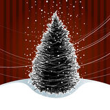 Christmas Tree Card. An illustration of a christmas tree with snow Royalty Free Stock Images