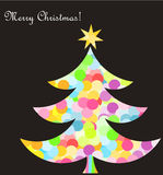 Christmas tree card Royalty Free Stock Photos