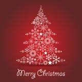 Christmas tree card Royalty Free Stock Photos