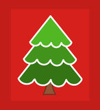 Christmas tree card Royalty Free Stock Photo