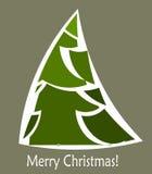 Christmas tree card Royalty Free Stock Photo