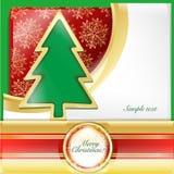 Christmas tree Card. Write Christmas cards, Christmas tree wallpaper Royalty Free Stock Image