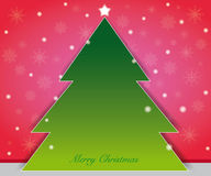 Christmas tree card. Background theme color as christmas concept, christmas tree on center position Royalty Free Stock Photos