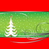 Christmas tree card 3 Stock Image