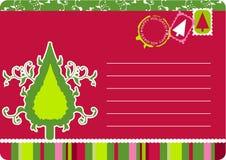 Christmas tree card Stock Photography