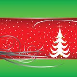 Christmas tree card 4 Stock Image