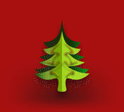 Christmas tree card. With dark red background Royalty Free Stock Photography