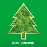 Christmas tree card1 Royalty Free Stock Photos