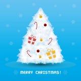 Christmas tree card3 Royalty Free Stock Photos