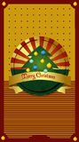 Christmas tree card. Royalty Free Stock Photos