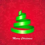 Christmas tree card Stock Photos