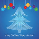 Christmas Tree Card Royalty Free Stock Image