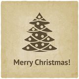 Christmas tree card Royalty Free Stock Images