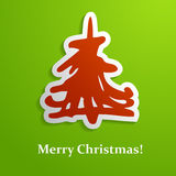 Christmas tree card Stock Images