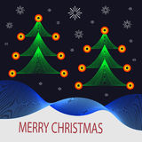 Christmas tree card Stock Photo