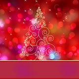 Christmas tree card with tree. EPS 8. Vector file included Royalty Free Stock Photography