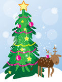 Christmas tree card Stock Image