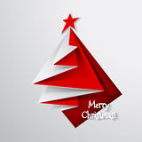 Christmas tree card. Royalty Free Stock Photography