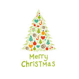 Christmas Tree Card vector illustration