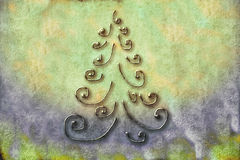 Christmas Tree Cards Royalty Free Stock Images