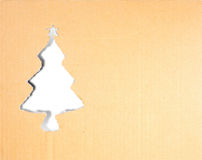 Christmas tree carton paper Royalty Free Stock Image